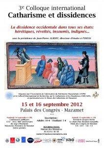 Le programme du colloque Catharisme et dissidences est disponible! dans Actualités A3-212x300