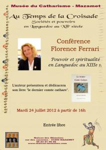 Conférence et dédicace - 24 juillet 2012 dans Actualités dédicace-212x300